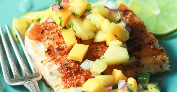 Cajun Mahi Mahi With Mango Pineapple Salsa