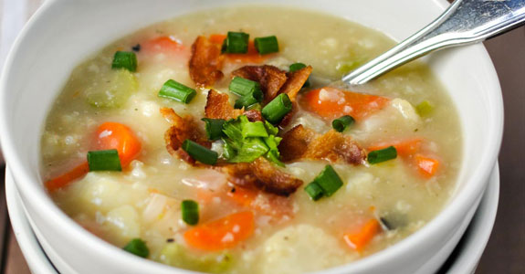 Cauliflower-Clam-Chowder