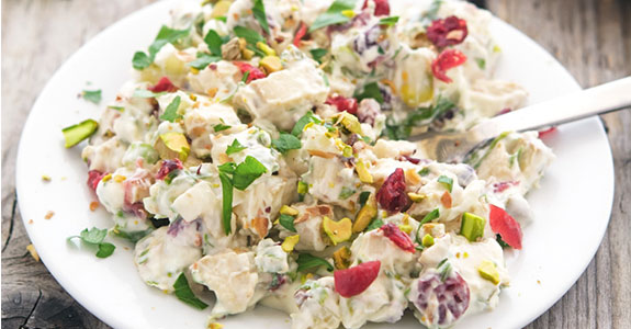 Cranberry Pistachio Light Chicken Salad