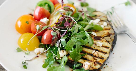 Eggplant-Salad-With-Heirloom-Tomatoes-and-Arugula