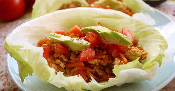 Enchilada-Lettuce-Wraps
