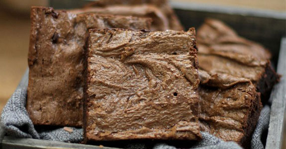 Flourless Olive Oil and Sea Salt Brownies