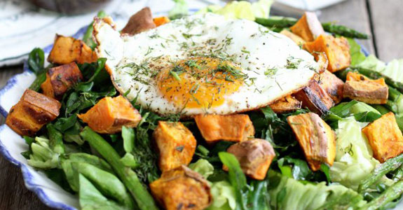 Fried Egg Breakfast Salad