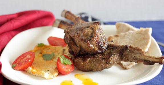 Grilled Harissa Lamb Chops