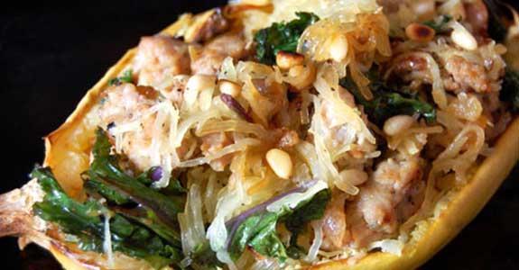 Kale-Sausage-Boat