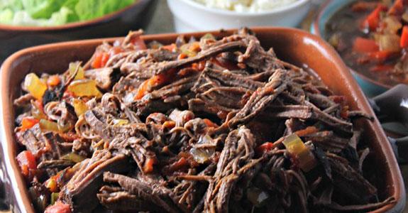 Machaca Slow Cooker Beef Brisket