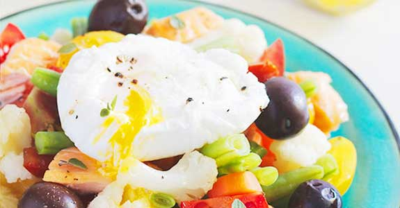 Poached-Egg-Salad