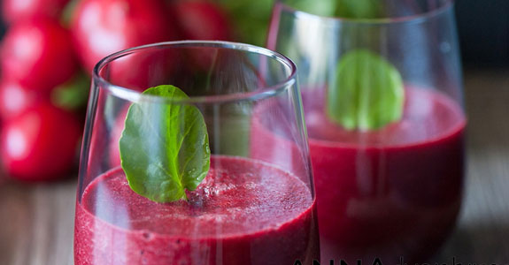 Radish, Beet, and Watercress Juice