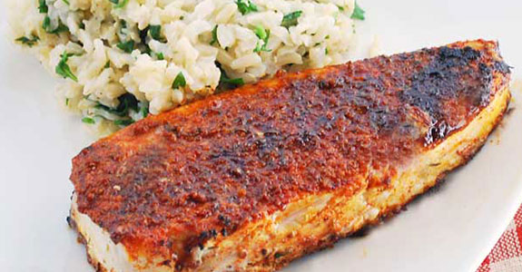 Simple Blackened Halibut