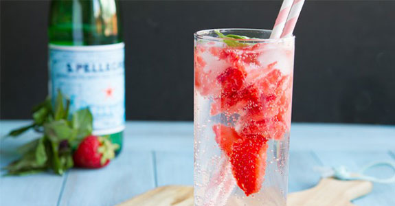 Strawberry Basil Italian Lemonade