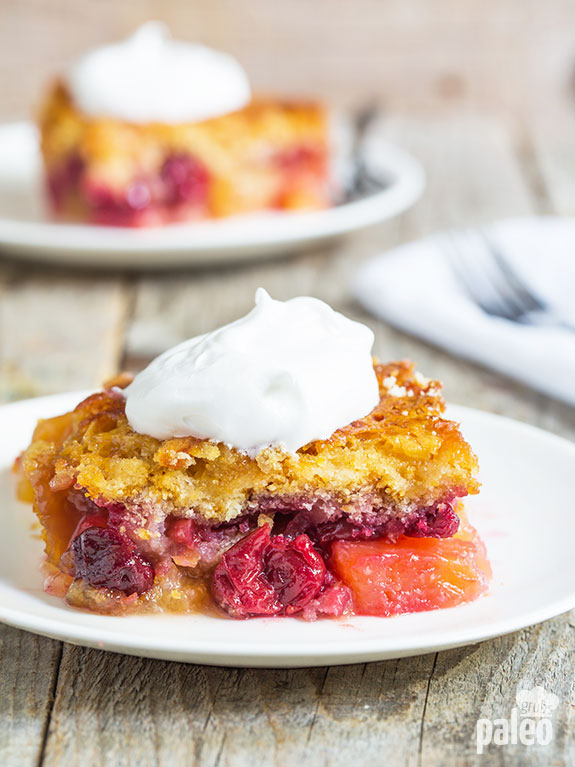 The combination of sweet pineapple and tart cherries makes this the best dump cake I have ever had! And it is so easy to make.