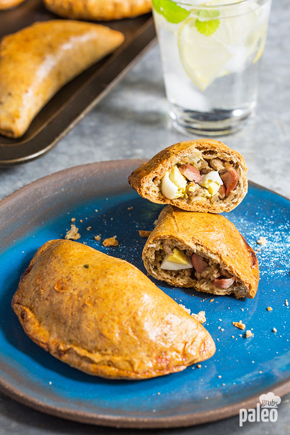 Make our empanadas that are loaded with pork, olives, and eggs and you'll have a delicious Paleo meal that's savory, flaky, and loaded with protein.
