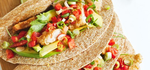 Thinly battered fish + homemade tortillas + fresh avocado and veggies = THE BEST FISH TACOS EVER! You need to try these.