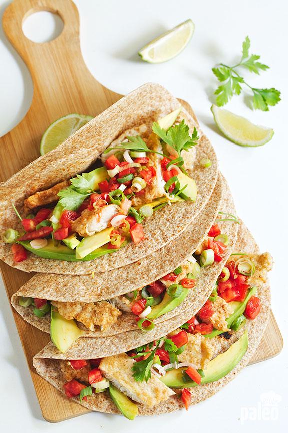 Paleo Fish Tacos With Homemade Tortillas Paleo Grubs