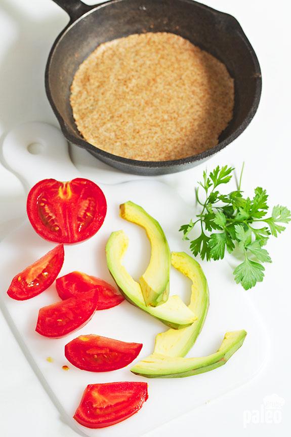 veggies and tortillas