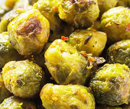 Garlic Roasted Brussel Sprouts
