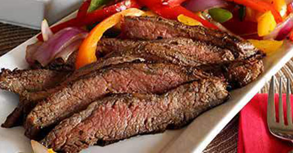 Balsamic-Marinated-Flank-Steak-With-Grilled-Veggies