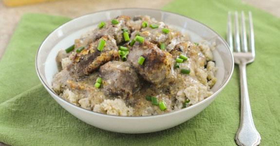 Beef-Stroganoff-With-Cauliflower-Rice