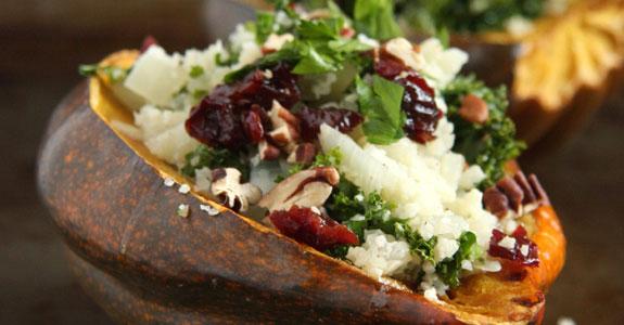 Cauliflower-Rice-Stuffed-Acorn-Squash