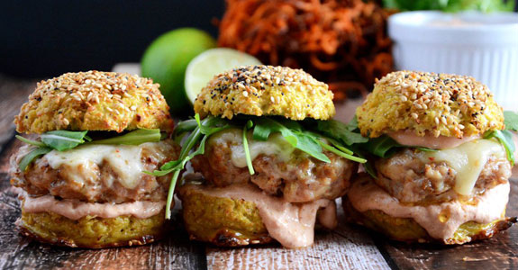 Chipotle-Chicken-and-Andouille-Sausage-Sliders