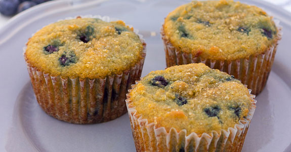 Coconut-Flour-Blueberry-Protein-Muffins
