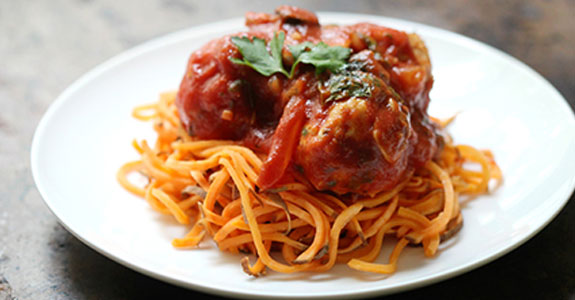 Italian-Chicken-Meatballs-With-Sweet-Potato-Spaghetti