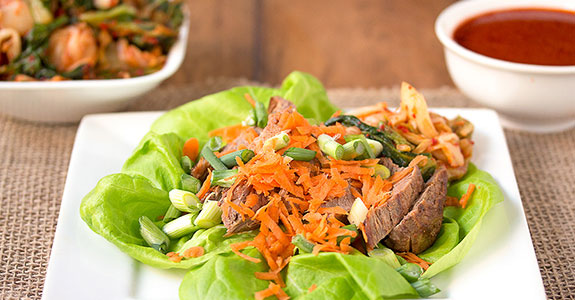 Korean-Style-Spicy-Grilled-Steak-Lettuc-Wraps