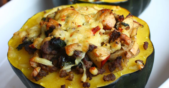 Stuffed-Acorn-Squash-With-Sausage-and-Eggs