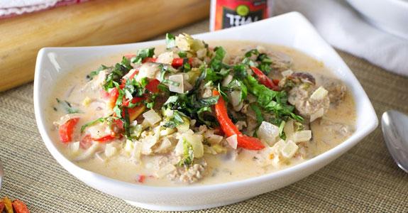 Thai-Andouille-Soup