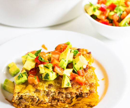 Tex Mex hash brown casserole! Everything I love in one dish, easy to make, easy to clean up!