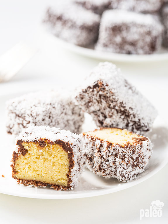 Lamingtons are sweet little cake-bites rolled in coconut flakes and I love them! If you have never had one, you need to make these!!!