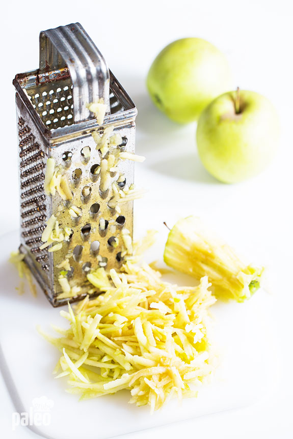 shredded apple