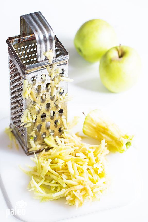 shredded apple