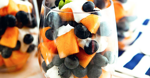 Cantaloupe Blueberry Lemon Parfaits
