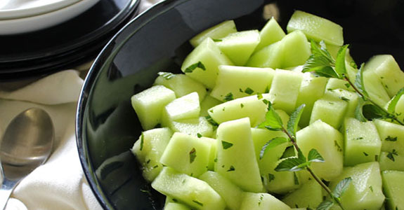 Ginger Melon With Mint