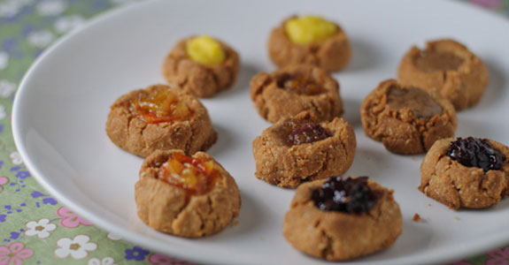 Grain Free Thumbprint Cookies