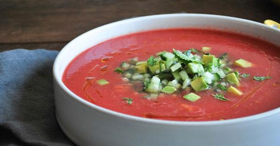 Habanero Watermelon Gazpacho With Salsa