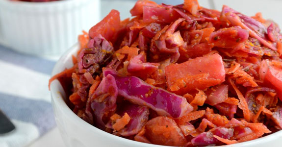 Red Cabbage Summer Coleslaw