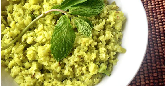 Spicy Celery Cauliflower Rice