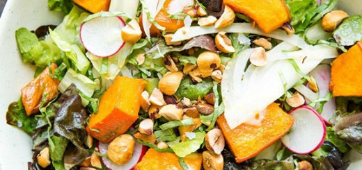 Squash Salad With Tahini and Hazelnuts