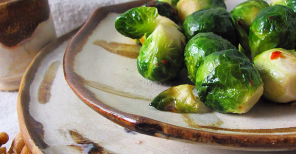 Sweet and Spicy Glazed Brussels Sprouts