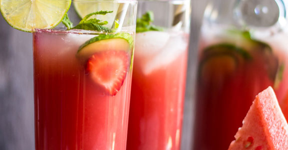 Watermelon Strawberry Agua Fresca