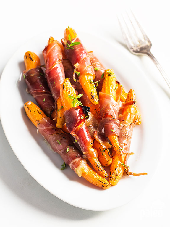 prosciutto wrapped carrots