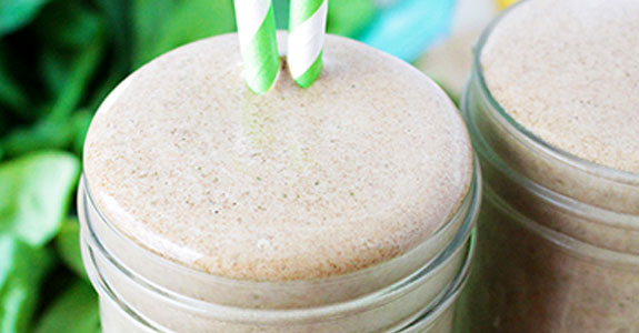 Banana Mocha Green Monster Smoothie