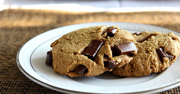 Big Soft Paleo Chocolate Chunk Cookies