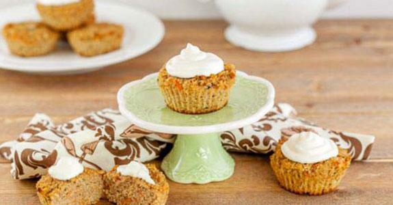 Carrot Cake Zucchini Muffins