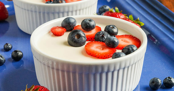 Coconut Panna Cotta With Berries