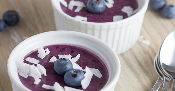 Dairy Free Blueberry Mousse