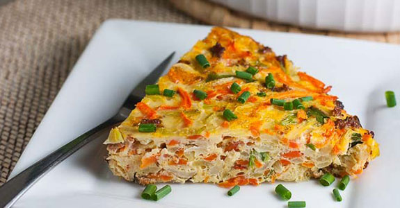 Lazy Girl Healthy Kohlrabi Quiche