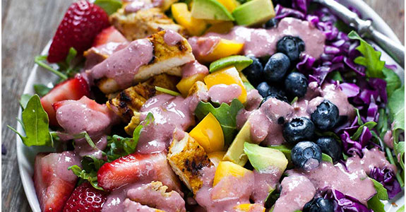 Rainbow Salad With Grilled Chicken